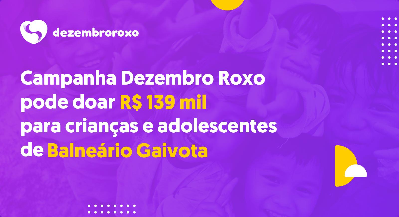 Doações em Balneário Gaivota - SC