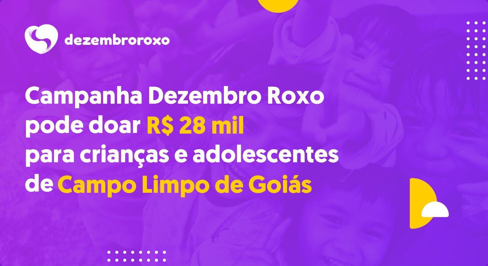 Doações em Campo Limpo de Goiás - GO