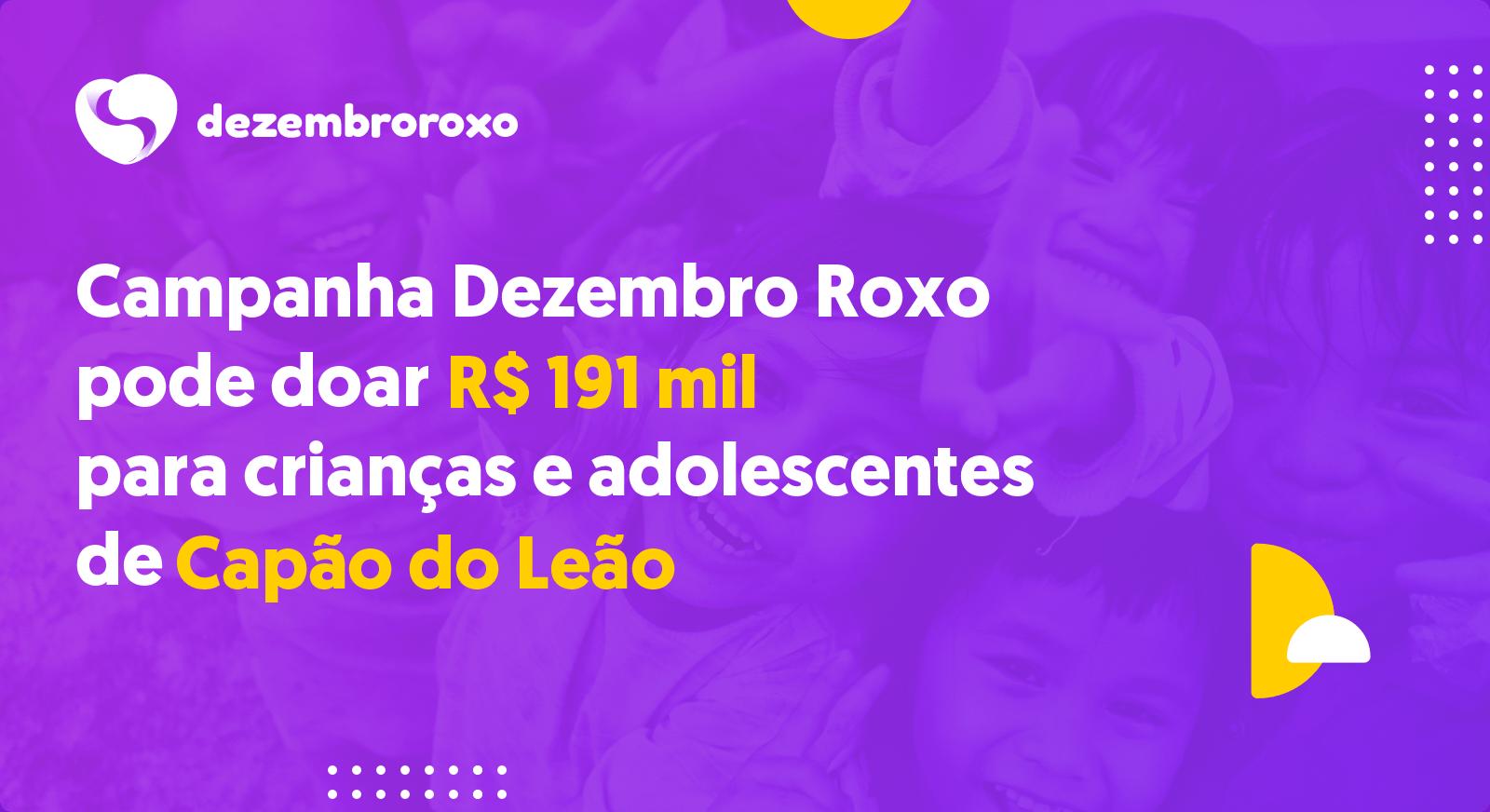 Doações em Capão do Leão - RS
