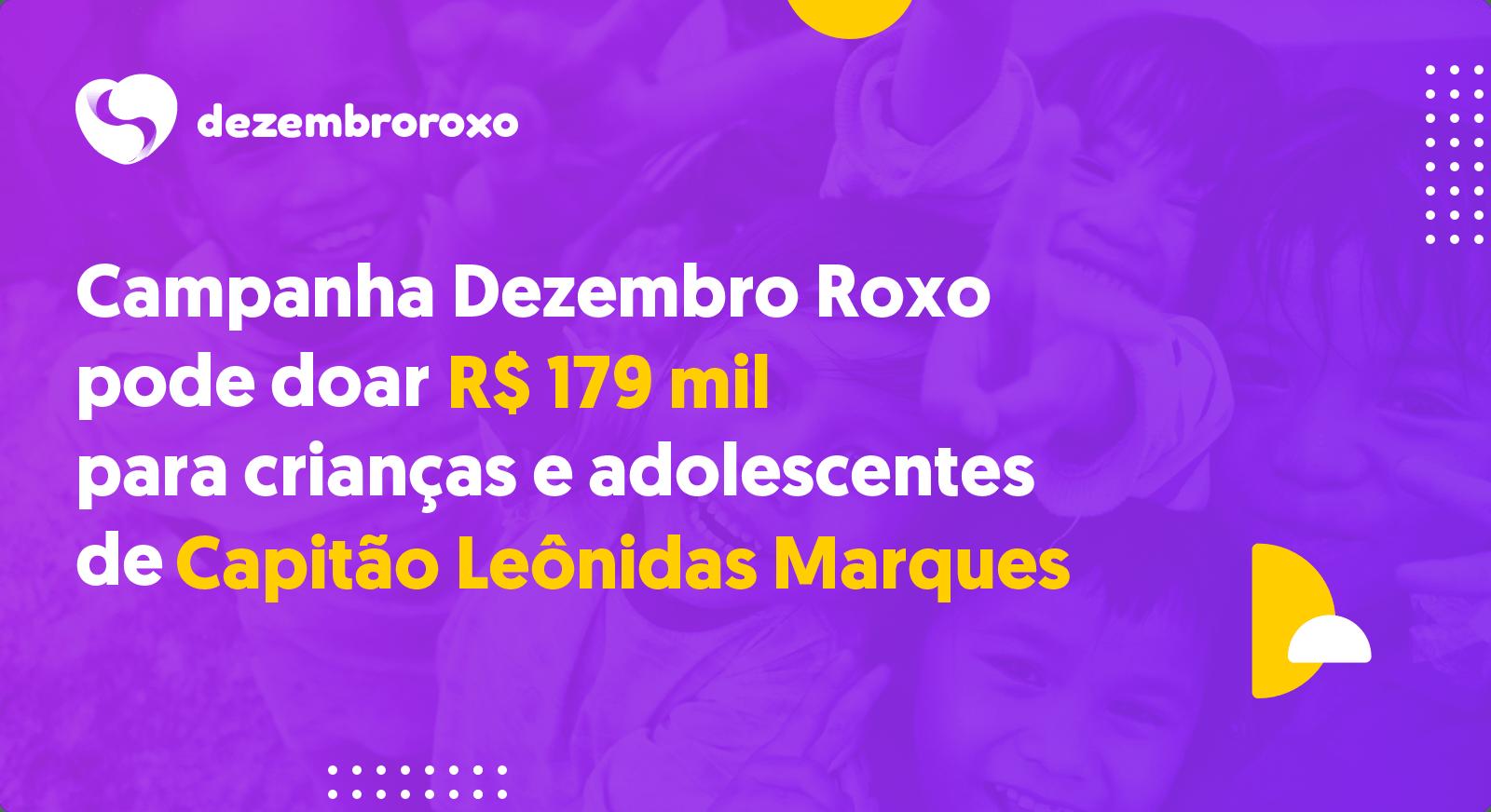 Doações em Capitão Leônidas Marques - PR