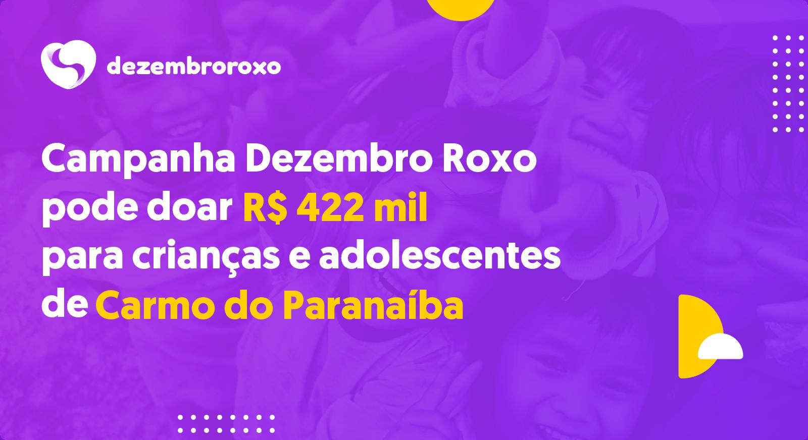 Doações em Carmo do Paranaíba - MG