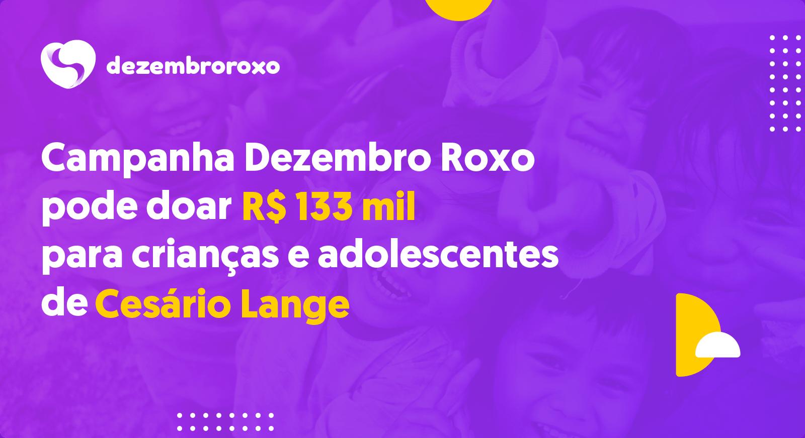 Doações em Cesário Lange - SP