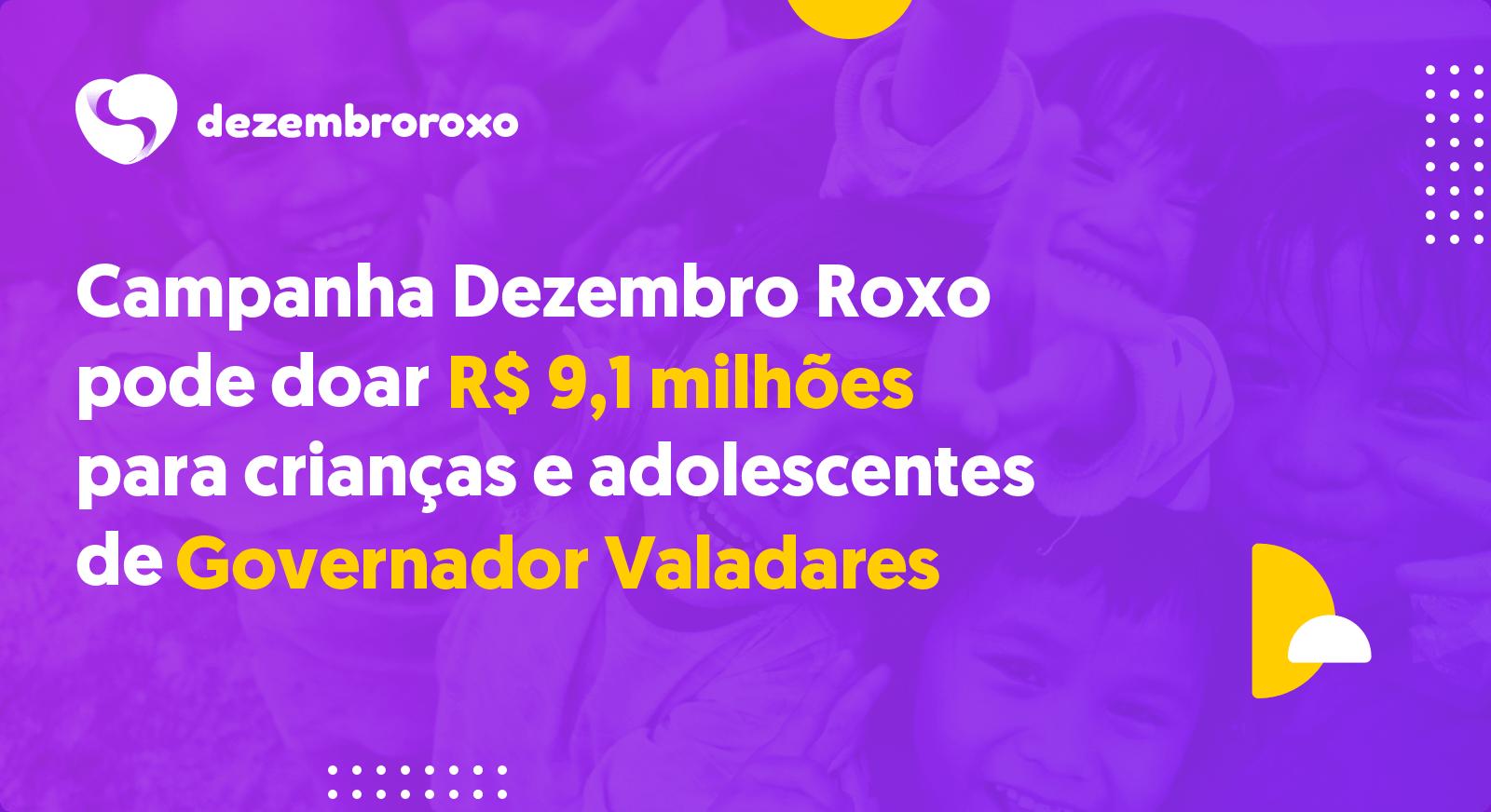 Doações em Governador Valadares - MG