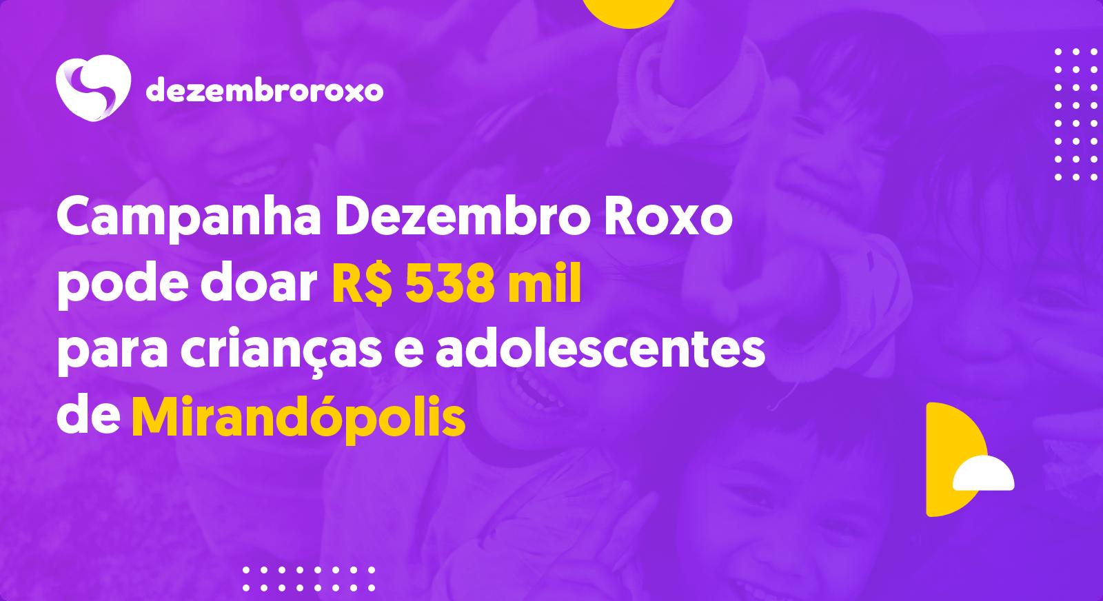Doações em Mirandópolis - SP