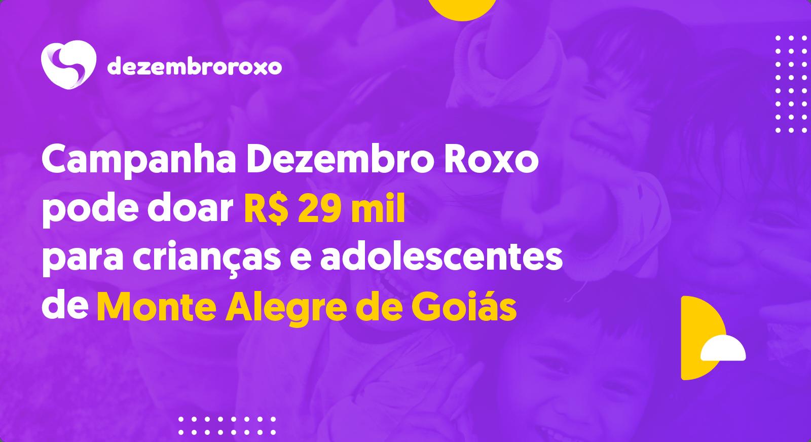 Doações em Monte Alegre de Goiás - GO