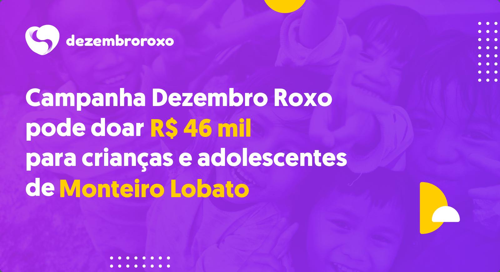 Doações em Monteiro Lobato - SP
