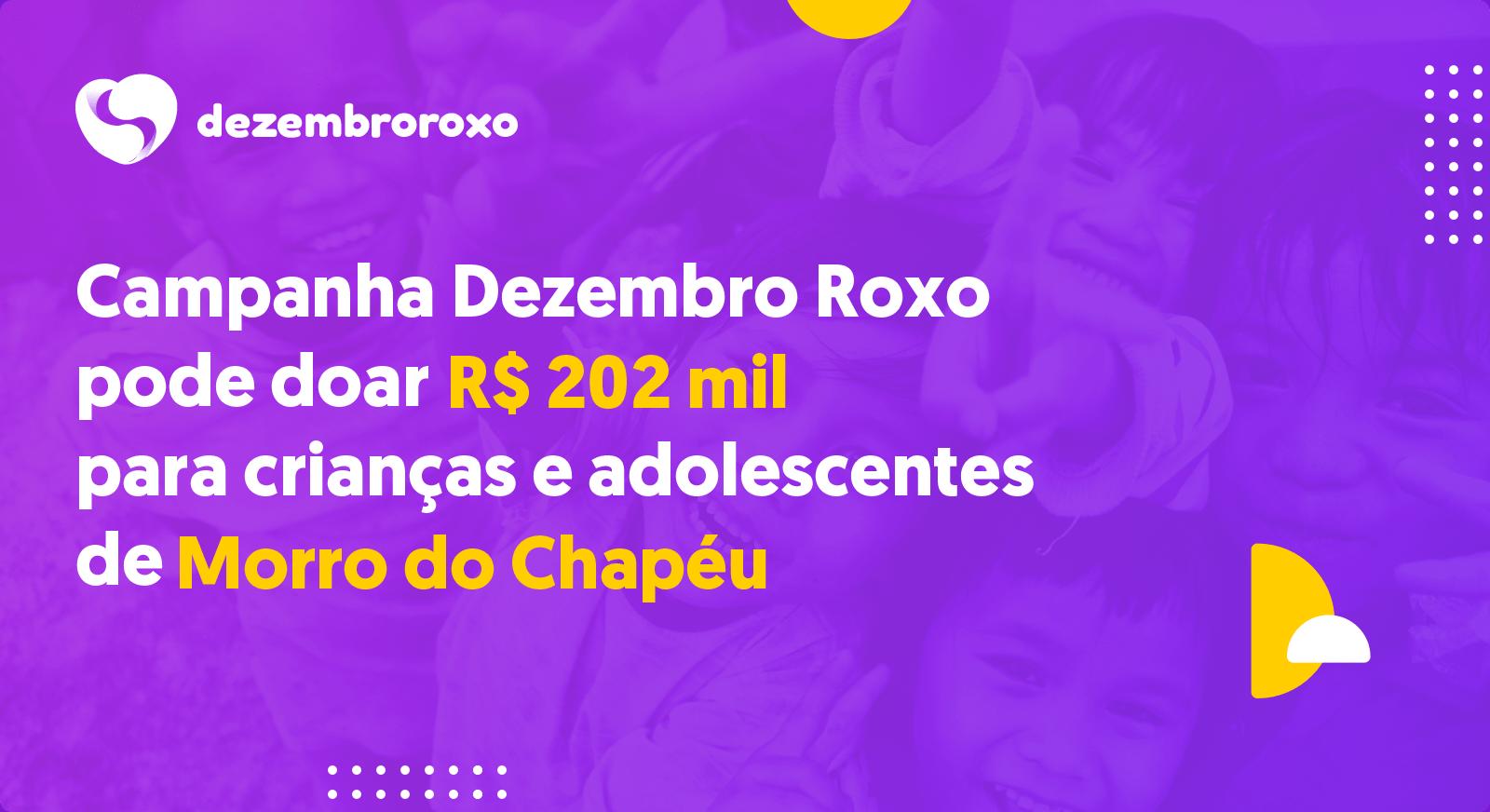 Doações em Morro do Chapéu - BA