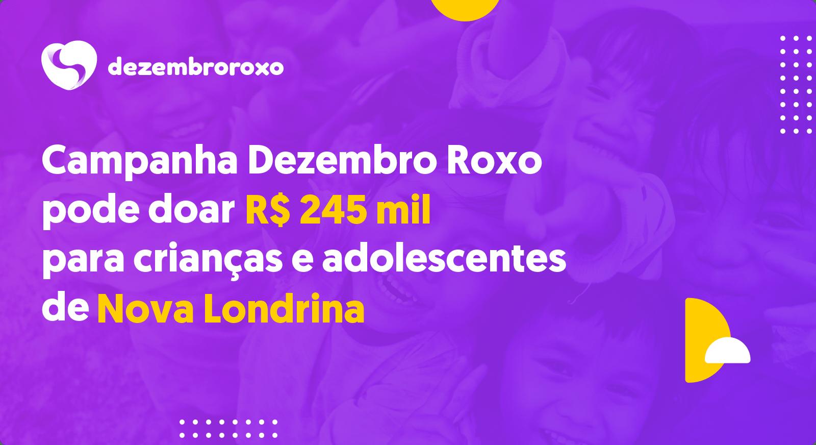 Doações em Nova Londrina - PR