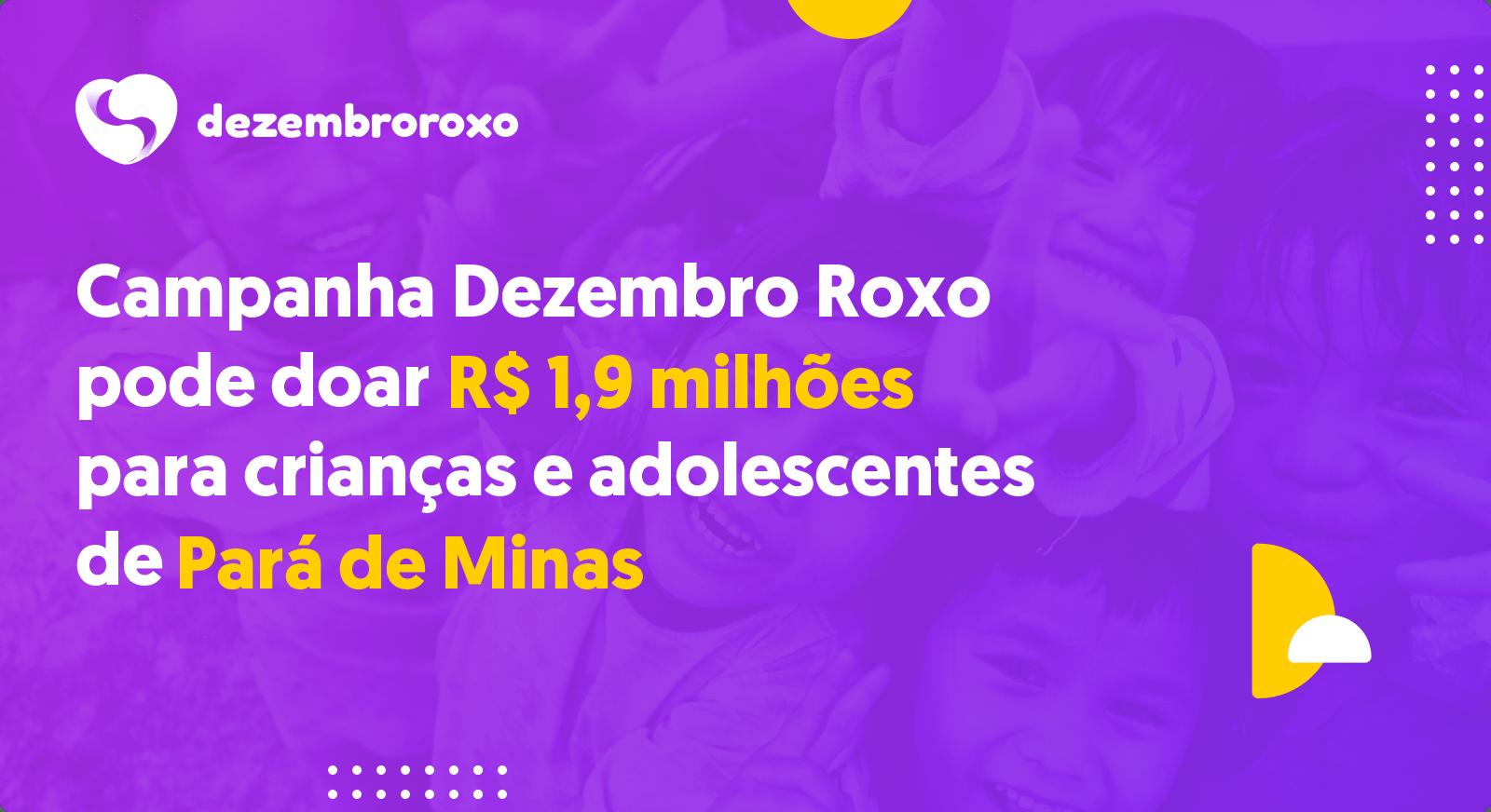 Doações em Pará de Minas - MG