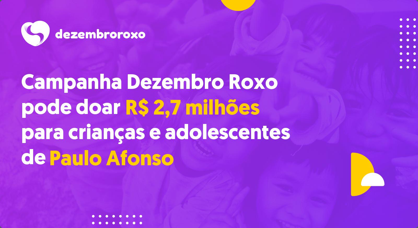 Doações em Paulo Afonso - BA
