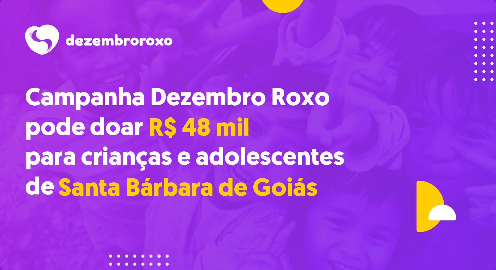 Doações em Santa Bárbara de Goiás - GO