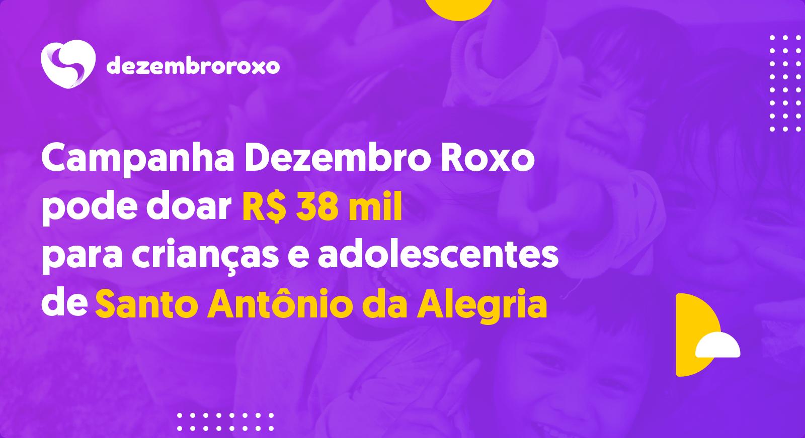 Doações em Santo Antônio da Alegria - SP