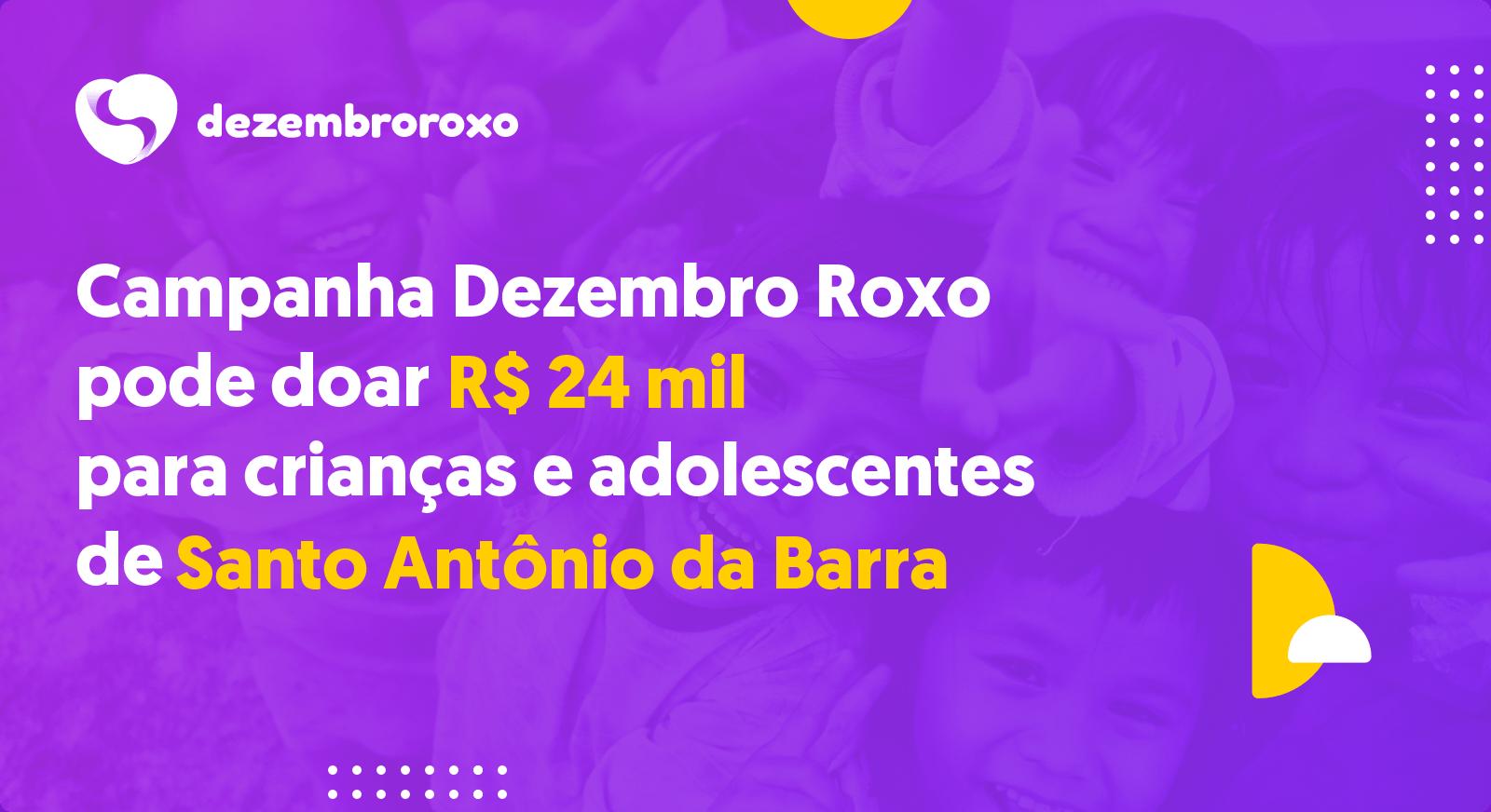 Doações em Santo Antônio da Barra - GO