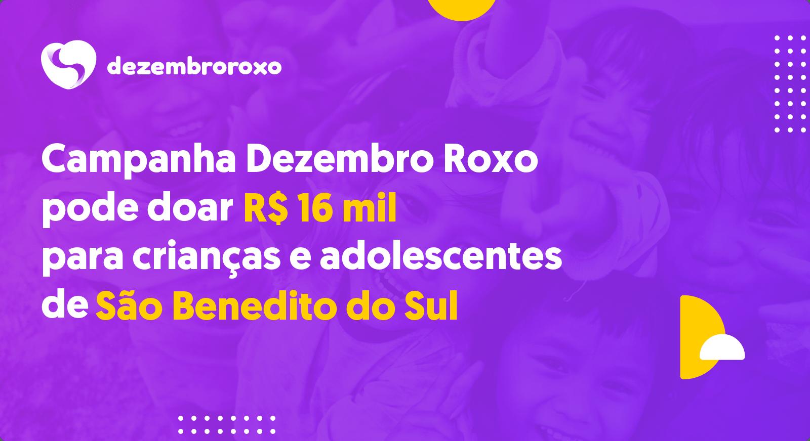 Doações em São Benedito do Sul - PE