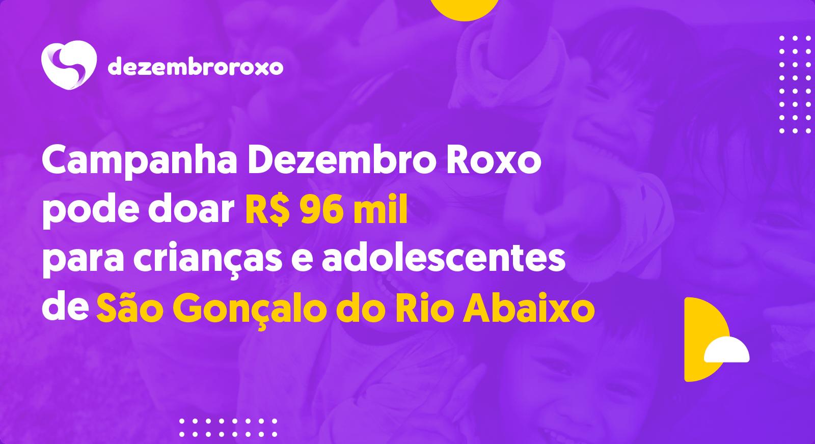 Doações em São Gonçalo do Rio Abaixo - MG