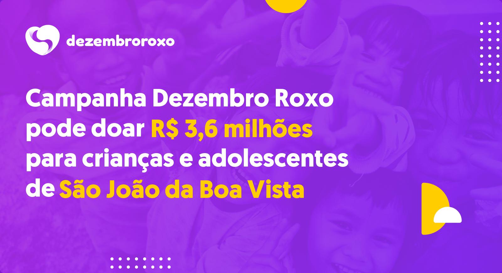 Doações em São João da Boa Vista - SP