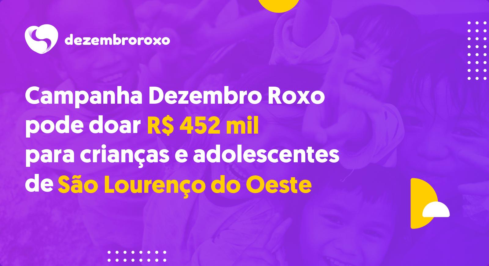 Doações em São Lourenço do Oeste - SC