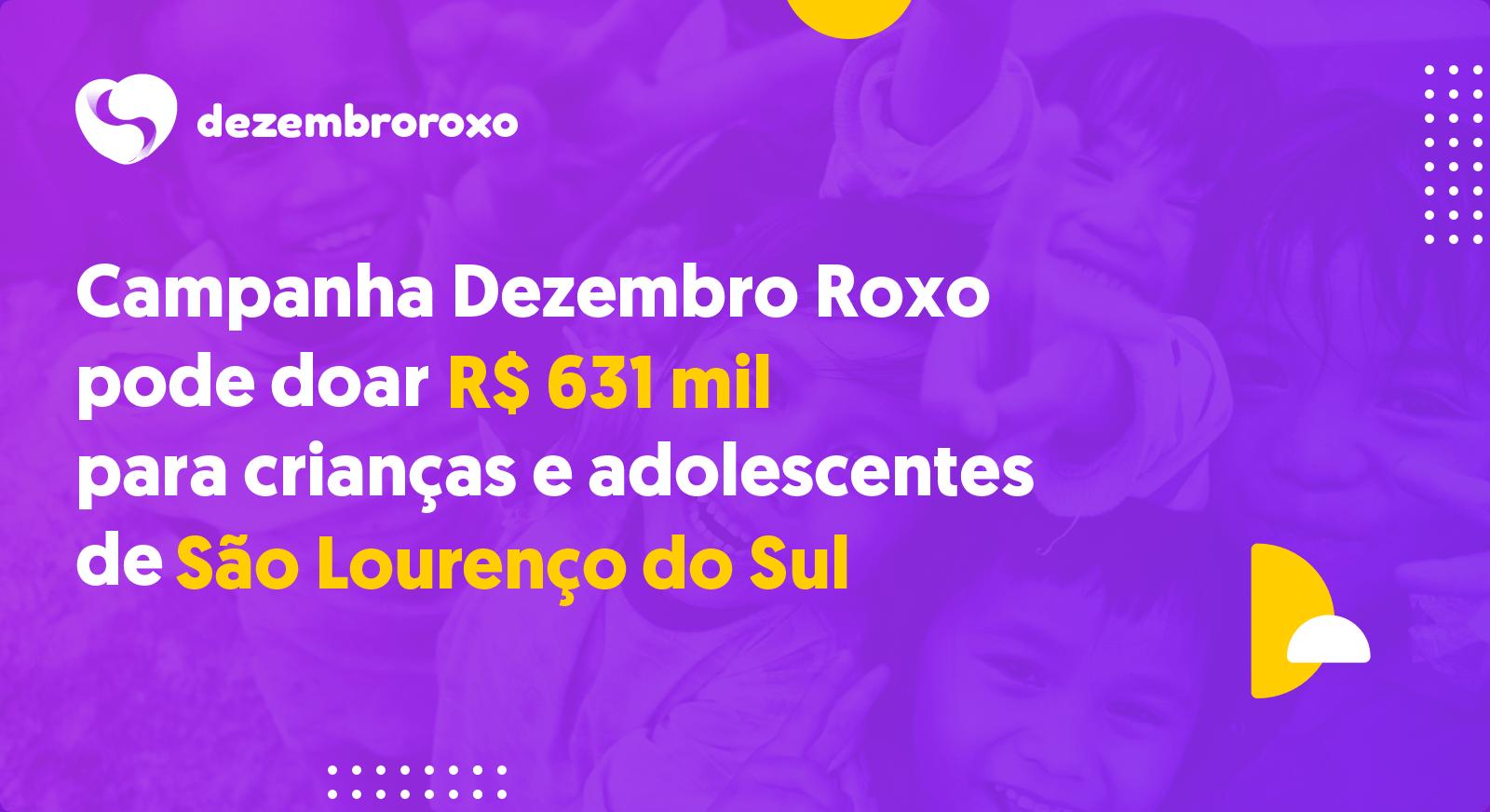 Doações em São Lourenço do Sul - RS