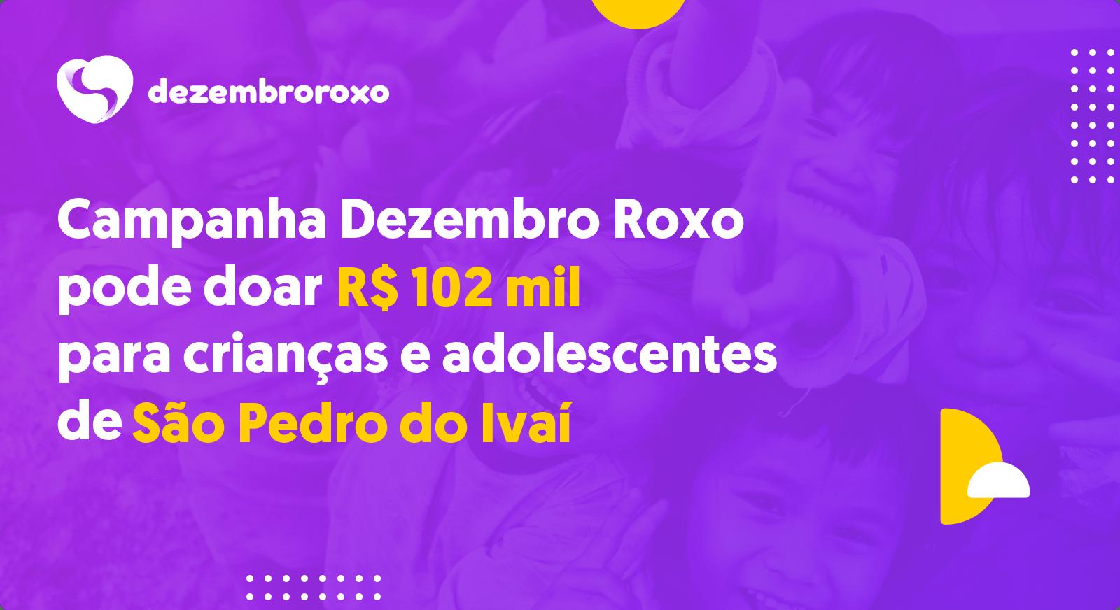 Doações em São Pedro do Ivaí - PR