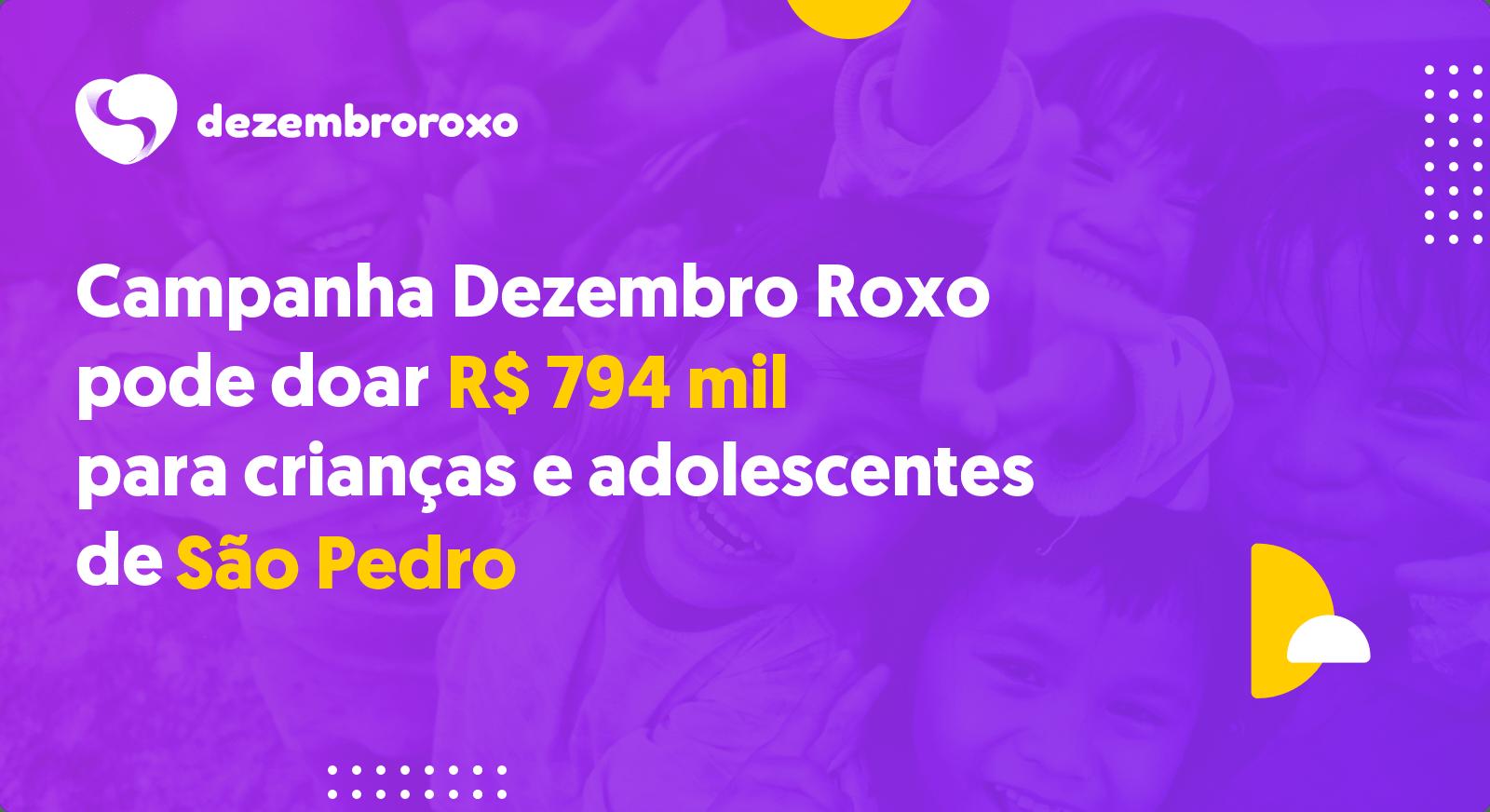 Doações em São Pedro - SP