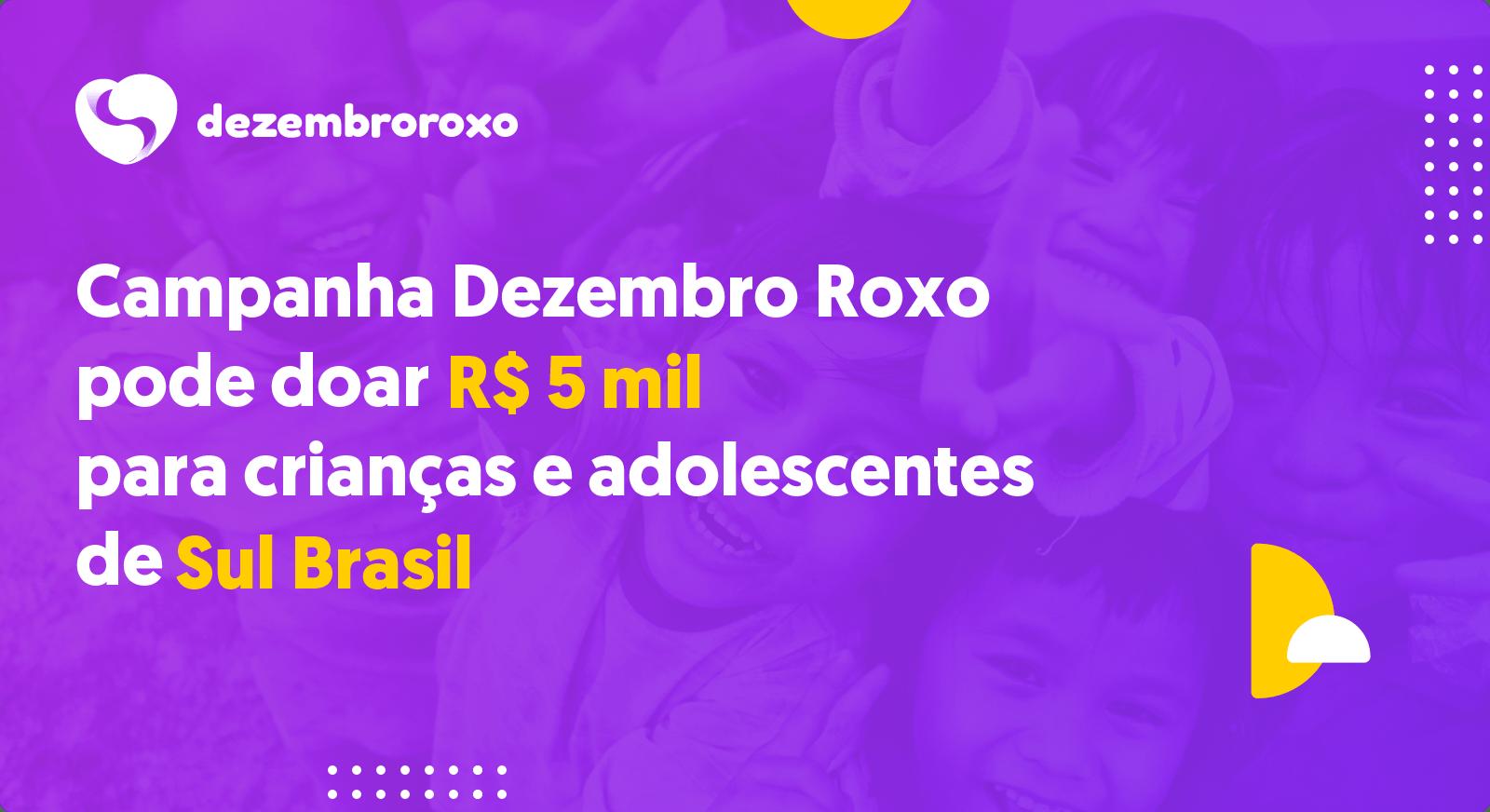 Doações em Sul Brasil - SC