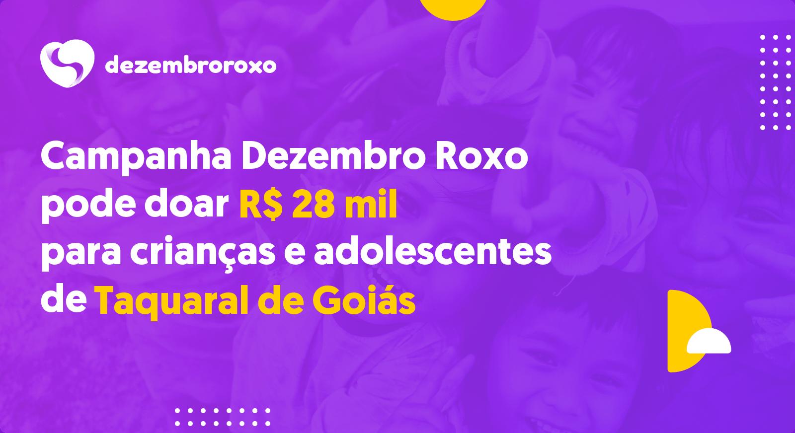 Doações em Taquaral de Goiás - GO