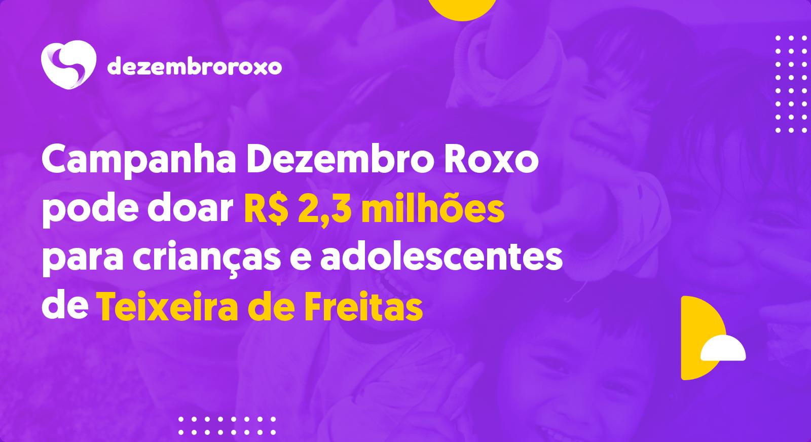 Doações em Teixeira de Freitas - BA