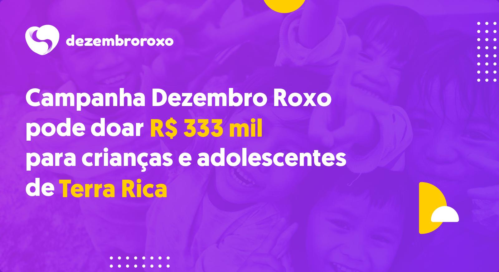 Doações em Terra Rica - PR